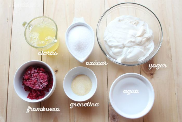 Ingredientes para preparar Mousse de Yogur