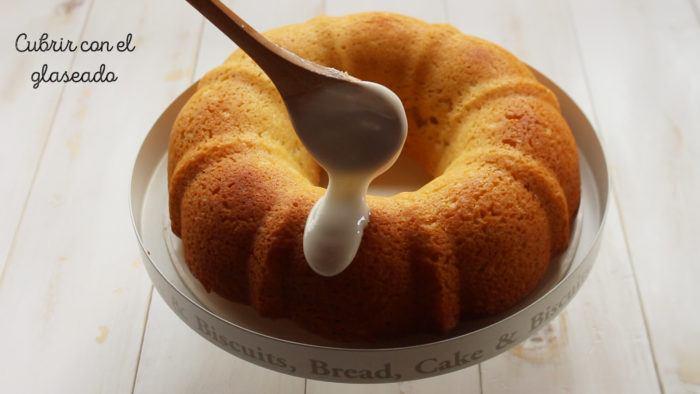 glaseado para la rosca de yogur