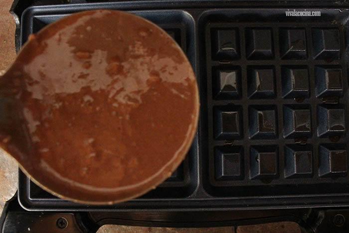 molde para hacer Waffles de chocolate