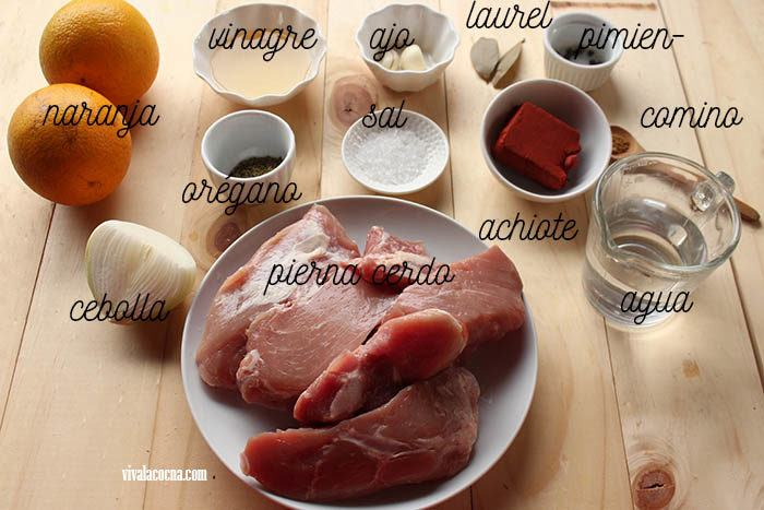 ingredientes para hacer cochinita pibil