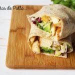 Burritos de Pollo con Aderezo Ranch: Comida Completa