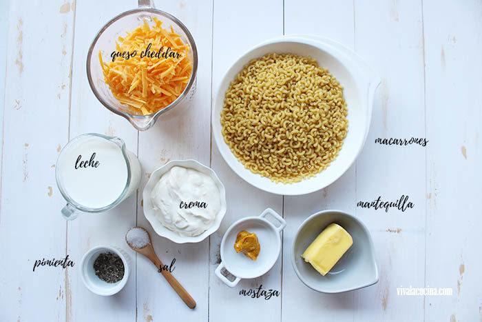 ingredientes para preparar macarrones cremosos en olla lenta