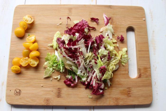 verduras para hacer burritos de pollo