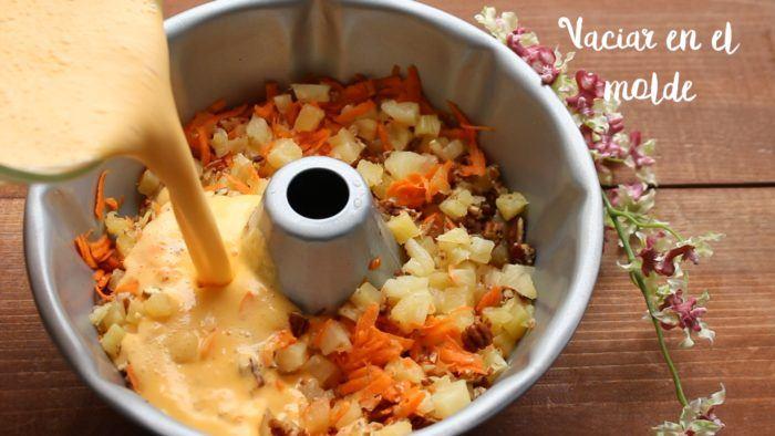 gelatina de zanahoria y frutas